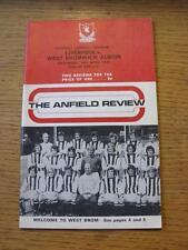 14/04/1973 Liverpool v West Bromwich Albion  (Pencil Team Change)