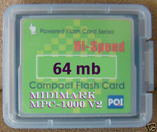 Akai mpc1000 mpc 1000 compact flash card sounds vol. 2 rap old school dance EDM