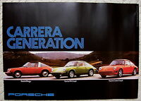 PORSCHE 911 TARGA 911S 911 CARRERA 40th ANNIVERSARY HERITAGE POSTER (1974) 2004