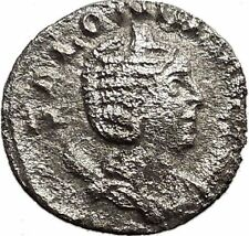 SALONINA daughter in law of Valerian I  Silver Roman Coin JUNO Zeus wife  i32973