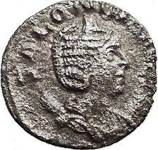SALONINA daughter in law of Valerian I  Silver Roman Coin JUNO Zeus wife  i32973