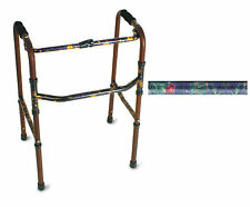Canterbury Design, Aluminum Folding Walker, Floral, Flowers, Lightweight