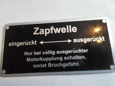 Typenschild für Lanz zapfwelle Schild Id-plate S2