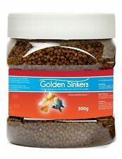 GOLDEN SINKERS SINKING PELLET FOOD W VITAMIN C FOR FANCY GOLDFISH 300G 10441 NEW