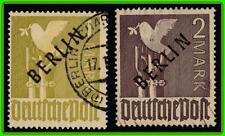 GERMANY/BERLIN 1948 O/PRINTS SC#9N17-18 used (NOT EXPERTIZED) CV$900 sold AS IS