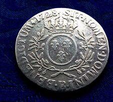 MONNAIE ECU  LOUIS XV   1728 B ROUEN  EN ARGENT