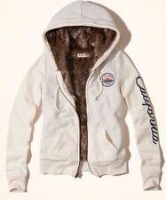 NWT HOLLISTER by ABERCROMBIE WOMEN  Sherpa Sweatshirt & Faux Fur Hoodie XS