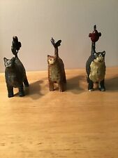 The Country House Collection Set Of Three Cats