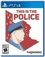 This Is The Police - Sony Playstation 4 [PS4 THQ Nordic Crime Strategy] NEW