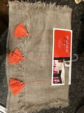 NEW Opalhouse Target Extended Length  Table Runner Neutral Orange Linen 14 X 108