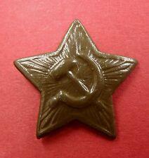 Ww2 Type Soviet Russian Small Hat Badge Star Steel for Pilotka Side Cap Old Orig