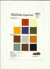 PANTHER KALLISTA EXTERIOR COLOURS AND PRICE LIST SALE SHEETS 'BROCHURE' MID 80's