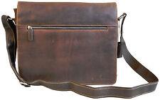 ↔38x↕30x12 XL - 15,6'' Ledertasche Aktentasche Umhängetasche Greenwood braun 835