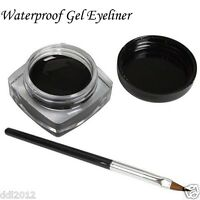 Waterproof Long Lasting Black Gel Eyeliner Cream With Eyeliner Brush Eye Liner