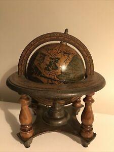 "Vintage Wood Globe 9""- Desktop/Ornament"