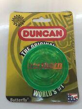 Vintage DUNCAN GREEN BUTTERFLY YOYO Advertising Yo-Yo NIP Made in U.S.A.!