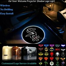 2pcs Wireless Chicago White Sox Logo Car Door Laser Projector Ghost Shadow Light