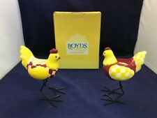 The Boyds Home Collection Rooster And Hen Votive Candle Holders Nib U4 Chicken