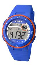 Limit 100m Ladies Blue Plastic Case With Orange Ring Digital Watch Model 5560