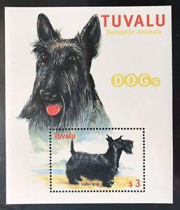 TUVALU DOG STAMPS SOUVENIR SHEET 2000 MNH SCOTTISH TERRIER DOMESTIC ANIMALS PETS