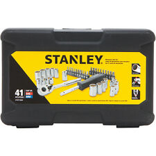 STANLEY 41pc MECHANIC SOCKET RATCHET SCREWDRIVER & BITS TOOL SET TORX ALLEN STAR