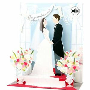 Pop-Up Sight 'n Sound Greeting Card by Up With Paper - Wedding