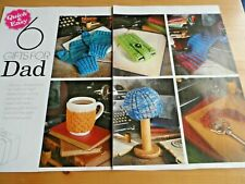 KNITTING PATTERN  6 QUICK KNITS FOR DADS / HUSBANDS ,GIFTS