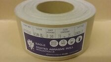 P240 Hook & Loop Abrasive Roll  75mm x 25m   Can be cut for strips  Eagle Brand