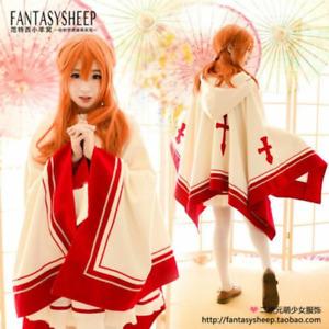 Sword Art Online SAO Asuna Yuuki Cloak Coat Cosplay Costume Custom Made A2