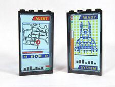LEGO Custom Bat Cave Computer Display screens printed pair 6860 70909 76052