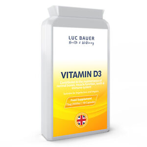 Vitamin D 3000iu / Vegan - 90 Capsules - Reduced to Clear