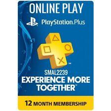PS Plus 12 Months Membership PS4 *NO CODE READ DESCRIPTION* Playstation Online