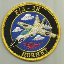 FA-18 HORNET AIRCRAFT PATCH USAF FIGHTER PILOT CREW AVIATION USMC NAVY AIRPLANE