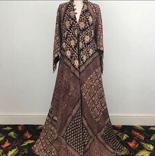 Vintage 1970s Indian Cotton Gauze Dress Hippy Block Print Ayesha Devar Not Phool