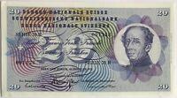 SUISSE - 20 FRANCS (1971) SERIE 78 R - Billet de banque // SPL (N°001138)