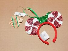 Disney Parks Candy Cane Sequin Ears Headband Christmas Ornament (NEW)