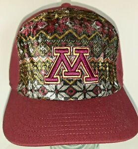 Minnesota Gophers Top of the World Cap with Raised Letter Unique Crushed Velvet