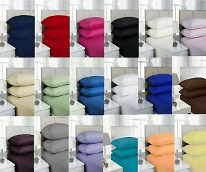 Extra Deep Fitted Sheet 40cm Bed Sheets 100% Poly Cotton Single Double King Size