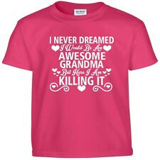 Awesome GRANDMA Killing It Funny Mothers Day Birthday Christmas Gift Tee T Shirt