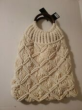 Cream Ivory Off White Crochet Tote Bag Forever 21 NWT