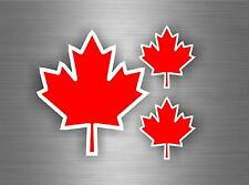 3 x sticker car motorcycle canada maple leaf red erable laptop bumper vinyl