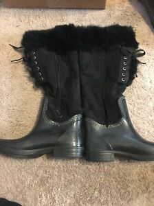 . WANTED SHOES WOMEN'S HAMPTON FASHION BOOTS BLACK. US Size 8 1/2