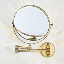 Antique Brass Wall Mounted Bathroom Makeup Mirror Dual Side 3x Magnifying Mirror