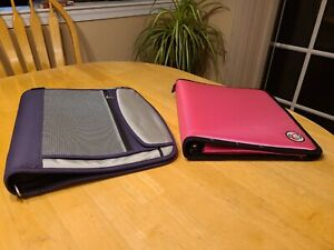 Lot 2 Vintage Soft ZipUp Fabric School Notebook 3 Ring Binders Case No Boundarie