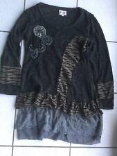 004d12274664 Robe tunique For Her Paris laine mélangée grise taille L état neuf