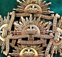 10 AUSTRALIAN ANZAC WW1 & WW2 RISING SUN UNIFORM HAT OR CAP BADGE MEDAL REPLICA