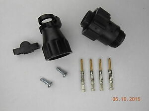 5 TE Connectivity/AMP 206429-1 CPC Plug Kit w/ Cable Clamp and Gold Pins