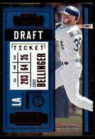 2020 Contenders Draft Ticket Red #66 Cody Bellinger /99 - Los Angeles Dodgers