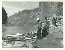 1938 Norman Nevills Expedition Lands in Grand Canyon Original News Service Photo