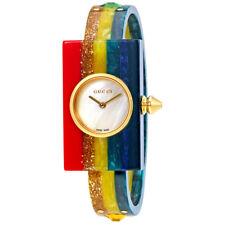 Gucci Plexiglas Ladies Studded Bangle Watch YA143520